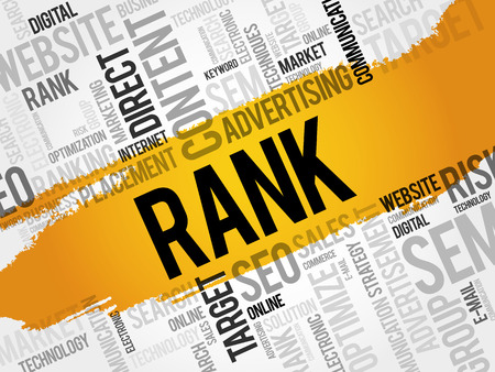 Rank word cloud, business concept background