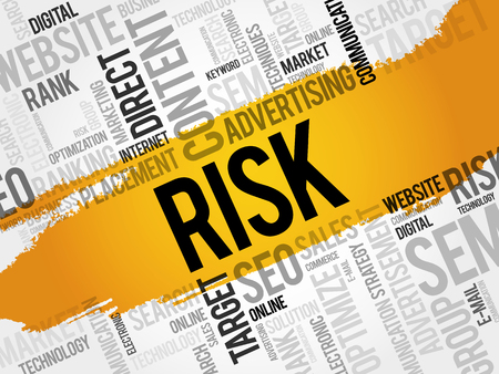 reduce risk: RISK word cloud, business concept