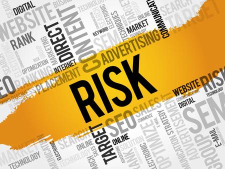 measures: RISK word cloud, business concept