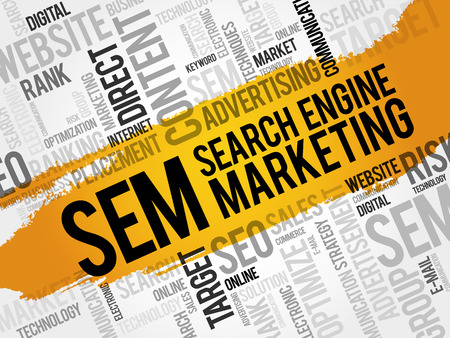 SEM (Search Engine Marketing) word cloud business concept