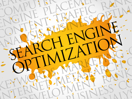 SEO (search engine optimization) word cloud business concept