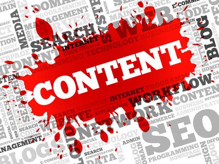 CONTENT word cloud, business concept