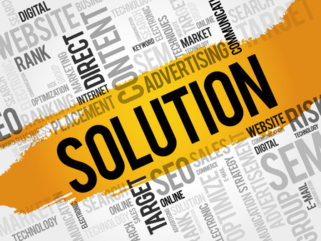 SOLUTION word cloud, business concept Illustration
