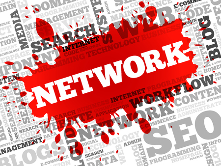 downtime: Network word cloud, business concept