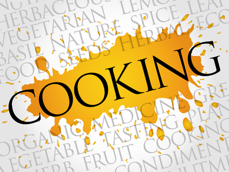 oregano: COOKING word cloud collage, food concept background