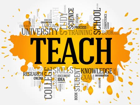 indoctrination: TEACH word cloud, education concept Illustration