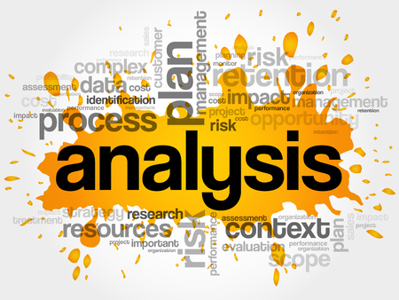 competitor: Analysis word cloud collage, business concept background