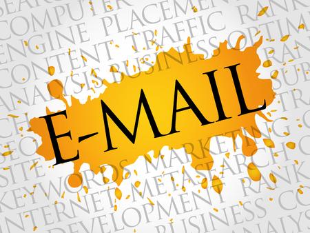 E-MAIL word cloud, business concept Illustration