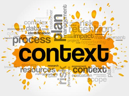 Contexto palabra nube, concepto de negocio