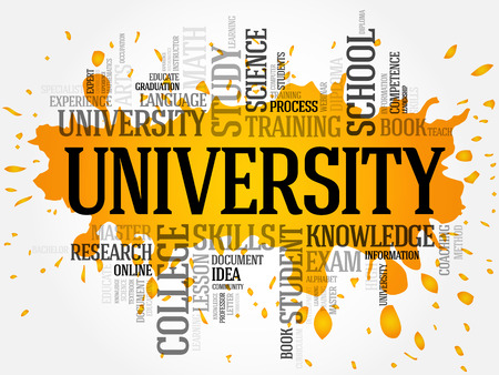 online degree: University word cloud collage, education concept background