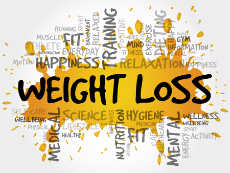 WEIGHT LOSS word cloud, fitness, sport, health concept