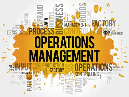 Operations Management word cloud collage, business concept background
