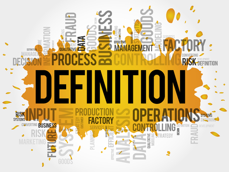DEFINITION word cloud collage, business concept background