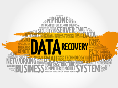 Data Recovery word cloud collage, technology concept background