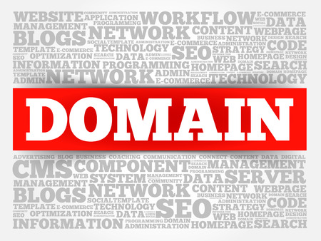 dynamic html: DOMAIN word cloud, business concept Illustration