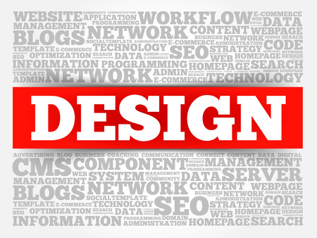 creation of sites: DESIGN word cloud, creative business concept