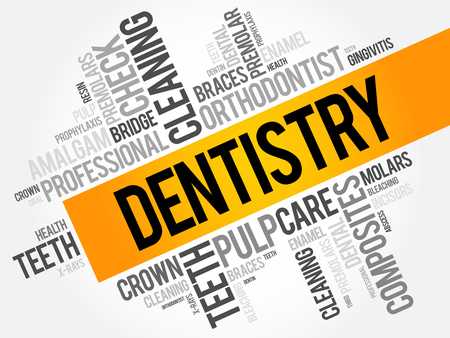 whiten: Dentistry word cloud collage, health concept background Illustration