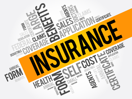 insurer: Insurance word cloud collage, healthcare concept background