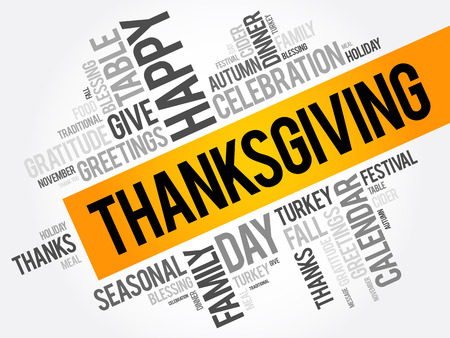 caes: Thanksgiving word cloud collage, holiday concept background