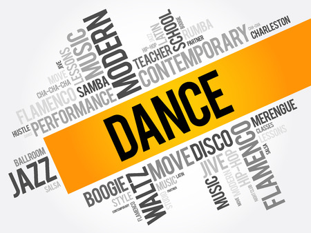hustle: Dance word cloud collage, concept background