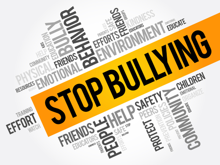 Stop Bullying word cloud collage, social concept background