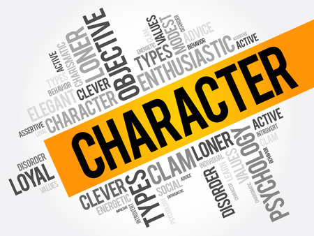 CHARACTER word cloud collage , social concept background Stock fotó - 80086562