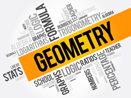 mathematician: Geometry word cloud collage, education concept background