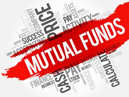 投資信託単語雲のコラージュ、ビジネス コンセプトの背景