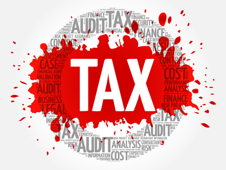 TAX word cloud, business concept Illustration