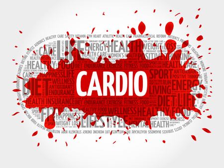 CARDIO word cloud, fitness, health concept