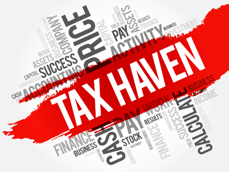 financial adviser: Tax Haven word cloud collage, business concept background