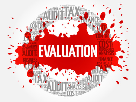 EVALUATION word cloud, business concept Illustration