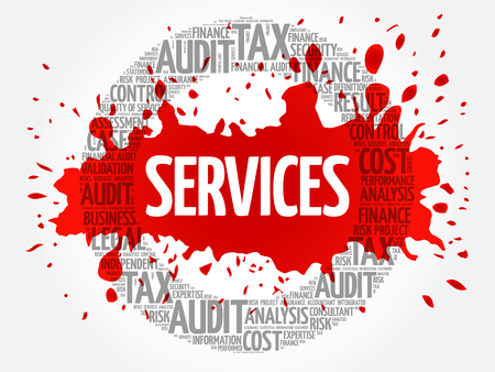 SERVICES word cloud, business concept Illustration