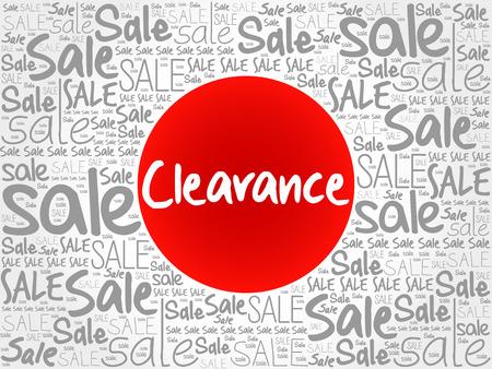 Clearance sale words cloud, business concept background Illustration