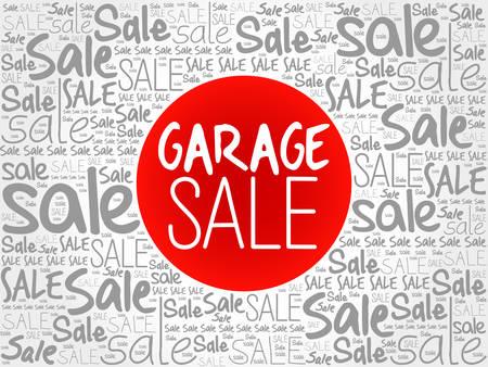 bargains: GARAGE SALE words cloud, business concept background