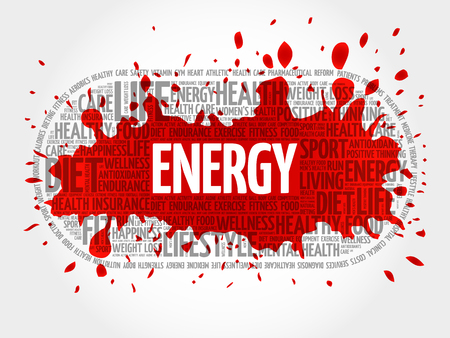pastime: ENERGY word cloud, fitness, sport, health concept