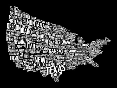 Houston Map Stock Illustrations Cliparts And Royalty Free - Us map collage