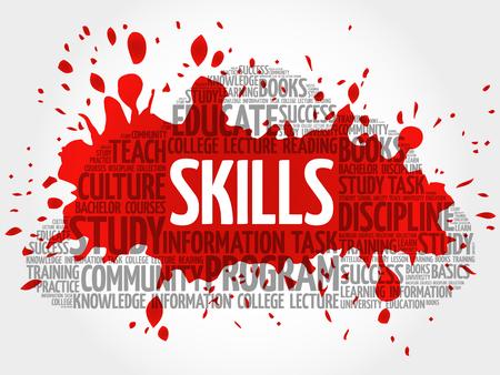 SKILLS word cloud, education concept Illustration