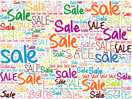 bargains: SALE word cloud collage background, business concept