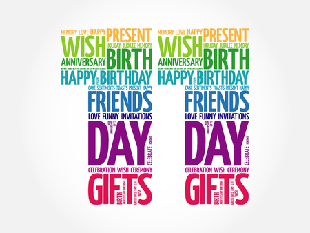 Happy 11th birthday word cloud collage concept