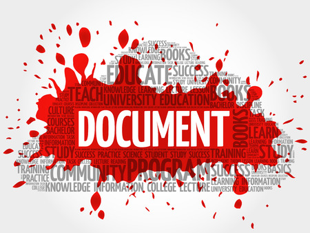 DOCUMENT word cloud, business concept Illustration