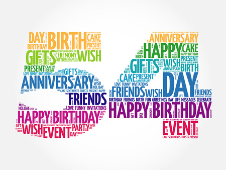 tagcloud: Happy 54th birthday word cloud collage concept