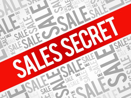 secret word: Sales Secret words cloud, business concept background Illustration