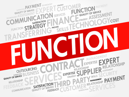 FUNCTION word cloud collage, business concept background