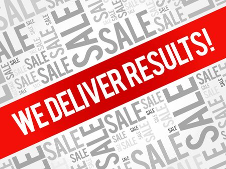 difficulties: We deliver results ! words cloud, business concept background