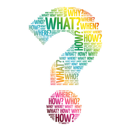 know: Question mark, Question words vector concept Illustration