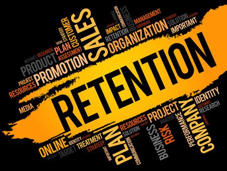 Retention word cloud, business concept.