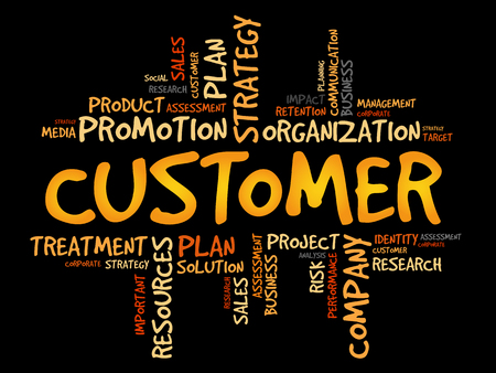 Customer word cloud, business concept.