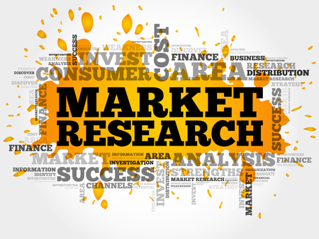keyword research: Market research concept word cloud