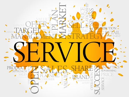 reliable: SERVICE word cloud, business concept background